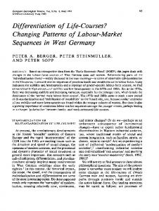 Changing Patterns of Labour-Market Sequences in West Germany