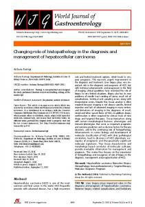 Changing role of histopathology in the diagnosis