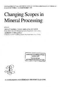 Changing Scopes in Mineral Processing