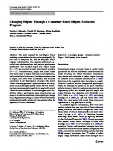 Changing Stigma Through a Consumer-Based Stigma ... - Springer Link