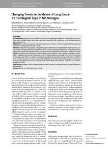 Changing Trends in Incidence of Lung Cancer by ... - CiteSeerX
