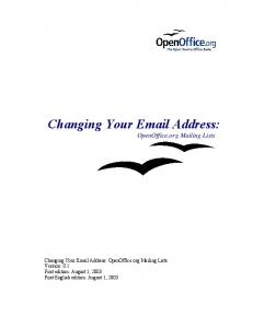 Changing Your Email Address: OpenOffice