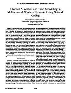 Channel Allocation and Time Scheduling in Multi-channel Wireless ...