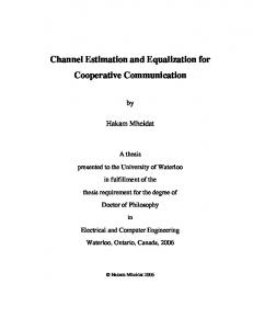 Channel Estimation and Equalization for Cooperative Communication