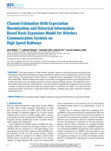 Channel Estimation With Expectation Maximization and ... - IEEE Xplore