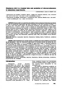 Chaoborus diet in a tropical lake and predation of ... - ABLimno