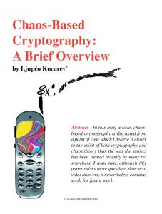 Chaos-based cryptography: a brief overview - IEEE ... - CiteSeerX