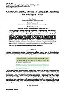 Chaos/Complexity Theory in Language Learning - Academy Publication