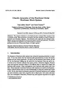 Chaotic dynamics of the Fractional Order Nonlinear Bloch System