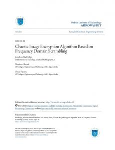 Chaotic Image Encryption Algorithm Based on ... - Arrow@DIT
