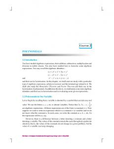 chap-2 - NCERT BOOKS and CBSE BOOKS