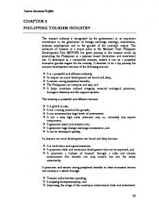 Chap3 Philippine Tourism Industry