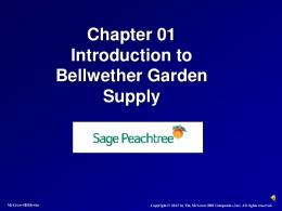 Chapter 01 Introduction to Bellwether Garden Supply