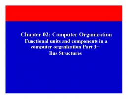 Chapter 02: Computer Organization