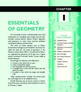 Chapter 1 Essentials of Geometry
