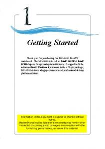Chapter 1. Getting Started Getting Started