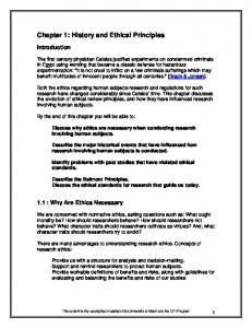 Chapter 1: History and Ethical Principles - CTSPedia