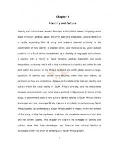 Chapter 1 Identity and Culture