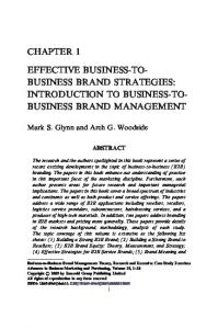 Chapter 1 Introduction to Business-to-Business Marketing Management