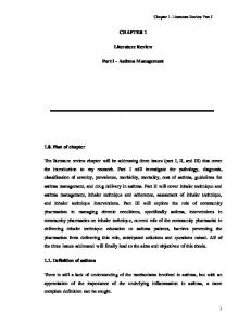 Chapter 1- Literature Review