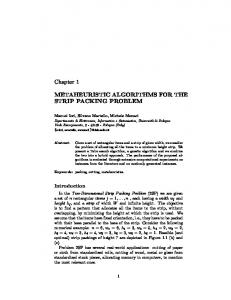 Chapter 1 METAHEURISTIC ALGORITHMS FOR THE STRIP ...
