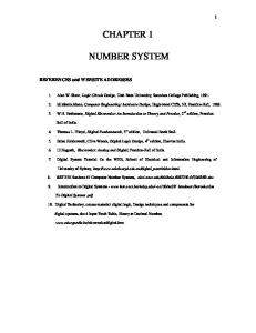 CHAPTER 1 NUMBER SYSTEM - McGraw-Hill Higher Education