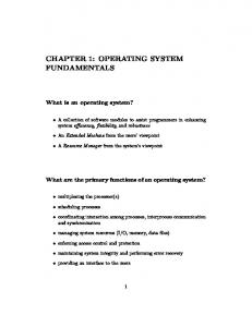CHAPTER 1: OPERATING SYSTEM FUNDAMENTALS