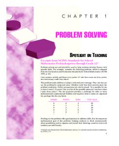 Chapter 1: Problem Solving - McGraw-Hill Higher Education