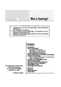 Chapter 1 What is Ps What is Psyychology?chology?