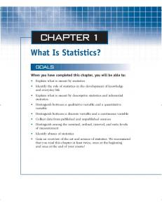 Chapter 1: Whats Is Statistics?