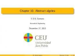 Chapter 10. Abstract algebra