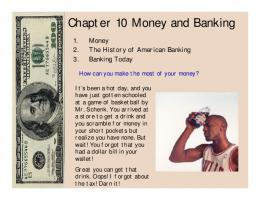 Chapter 10 Money and Banking