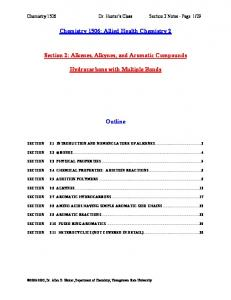Chapter 11: Alkenes, Alkynes, and Aromatic Compounds