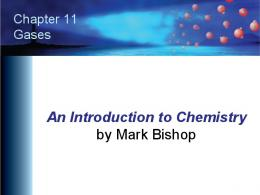 Chapter 11 - An Introduction to Chemistry