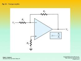 chapter 11 operational amplifier
