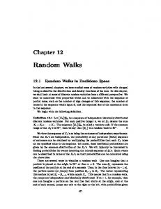 Chapter 12: Random Walks