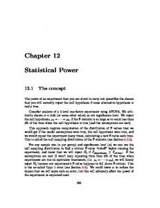 Chapter 12 Statistical Power
