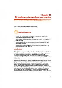 Chapter 12 Strengthening interprofessional practice - Australian Rural ...