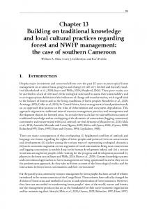 Chapter 13 Building on traditional knowledge and local cultural ...