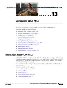 Chapter 13 Configuring VLAN ACLs - Cisco