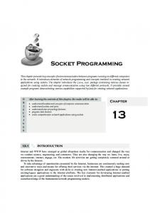 Chapter 13: Socket Programming - Rajkumar Buyya