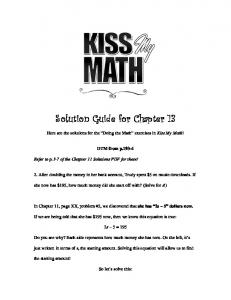 Chapter 13 Solutions - Kiss My Math