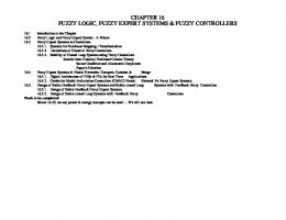 chapter 16 fuzzy logic, fuzzy expert systems & fuzzy controllers