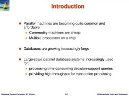 Chapter 17: Parallel Databases