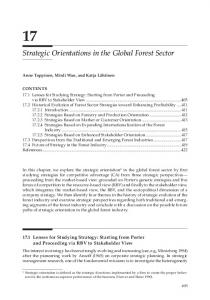 Chapter 17: Strategic Orientations in the Global Forest ...