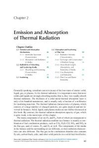 Chapter 2 - Emission and Absorption of Thermal