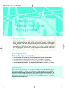 Chapter 2 Ethics and Human Resource Management