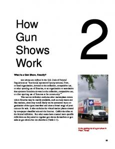 Chapter 2: How Gun Shows Work