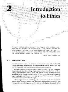 Chapter 2: Introduction to ethics - Oregon State University