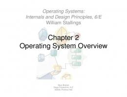 Chapter 2 Operating System Overview Operating System Overview
